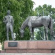 Monument to russian poet Batiushkov in Vologda,Russia — Stock Photo
