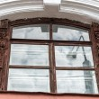 Antique window design in Yaroslavl, Russia — Stok fotoğraf