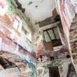 Inside the ruined Hrapovetskiy castle, Russia — Stock Photo #26945723