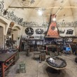 Stock Photo: Inside the blacksmith workshop in Vladimir, Russia