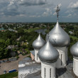 domes of st. sophia cathedral in vologda, russia — Stock Photo