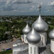 Domes of St. Sophia cathedral in Vologda, Russia — Stockfoto