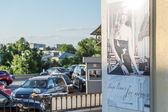 Reklamní banner v vladimir, rusko — Stock fotografie