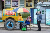 Urban scene from street life of Kostroma town, Russia — Stock Photo