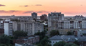 Sunset Panorama of Vladimir city, Russia — Stock Photo