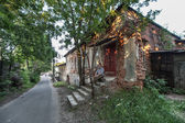 Old ruined building in Vladimir, Russia — Stok fotoğraf