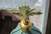 Cross on the top of bell tower in Vologda, Russia — Stock Photo