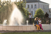 Fountain in Vladimir city, Russia — Stock Photo