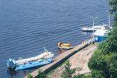 Boats in Nizhny Novgorod city, Russia — Stock Photo