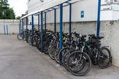 Bicycle parking in Nizhniy Novgorod, Russia — Stock Photo
