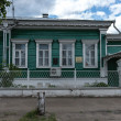 Traditional russiwooden house in Rostov town — Stock Photo #26951259