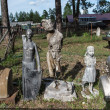 Old soviet sculptures in Narrow gauge railway museum, Pereslavl, Russia — Stock Photo