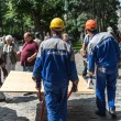 Stock Photo: Russiconstructors in Sergiyev Posad town