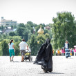 Nun in Sergiyev Posad town, Russia — Stock Photo #26951505