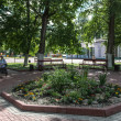 Flowerbed in the city park of Rostov town, Russia — Foto Stock