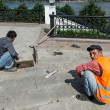 Stock Photo: Constructors at embankment in Yaroslavl, Russia