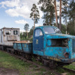 Narrow gauge railway museum in Pereslavl, Russia — Stock Photo