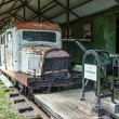 Narrow gauge railway museum in Pereslavl, Russia — Stock Photo #26951917