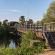 Stock Photo: Bridge over small river in Pereslavl, Russia