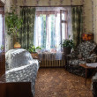 Traditional interior of typical soviet apartment — Stock Photo