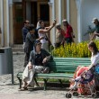 ������, ������: Tourists at Trinity Sergius Lavra in Sergiev Posad Russian Federation