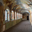 Ancient gallery in Rostov kremlin — Stock Photo