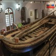 Boat of Peter the Great in Pereslavl museum, Russia — Stock Photo