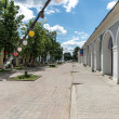 Streets of russian town Rostov — Stock Photo