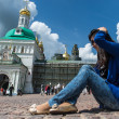 Trinity Sergius Lavra in Sergiev Posad. Russian Federation — Stock Photo
