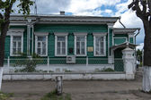 Traditional russian wooden house in Rostov town — Stock Photo