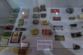 Old matches collection in museum in Pereslavl, Russia — Stock Photo