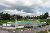 Small stadium in Yaroslavl, Russia — Stock Photo