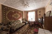 在典型的苏联公寓内的生活 — 图库照片
