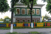 Old wooden house in Pereslavl, Russia — Foto de Stock