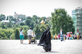 Nun in Sergiyev Posad town, Russia — Stock Photo