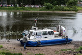 Hovercraft on a shore, Yaroslavl, Russia — 图库照片