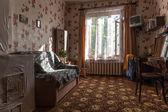 Tradycyjny wystrój wnętrz z typowym mieszkaniu zsrr — Zdjęcie stockowe