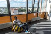 Observatiepunt in zakelijke centrum van yaroslavl, rusland — Stockfoto