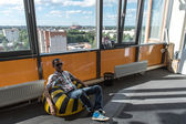 Observation point in business center of Yaroslavl, Russia — Stock Photo