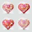 Original heart symbols (icons, signs). — Stock Vector