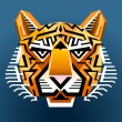 Royalty-Free Stock Vector Image: Geometric tiger\'s face