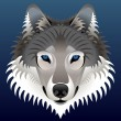 Realistic wolf's face - Stock Vector