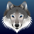 Realistic wolf&#039;s face - Stock Vector