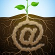 """At"" sign like root of plant - Stock Vector"
