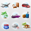 Set of travel icons - Imagen vectorial