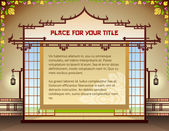 Graphic layout with traditional thai elements — Vector de stock