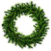 Christmas wreath without decoration — Stock Vector