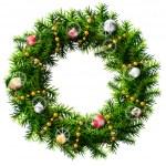 guirlanda de Natal com miçangas decorativas e bolas — Vetorial Stock