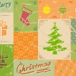Vintage christmas card in green colors — Stock Vector