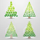 Stylized symbols of christmas tree — Stock Vector